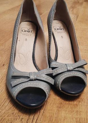 Туфли из натуральной кожи бренда caprice