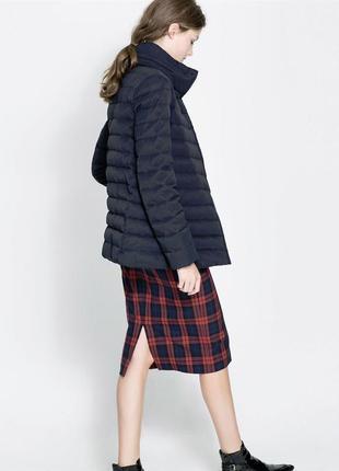 Зимняя пуховая куртка/пуховик 80% пух 20% перо от zara