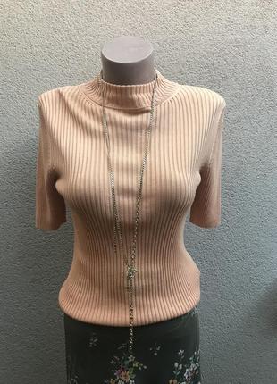 Шелк100%,трикотаж в рубчик кофта,гольф,водолазка,футболка,блуза,laura berlucci