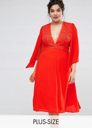 John zack чарівна червона сукня ажурний вех