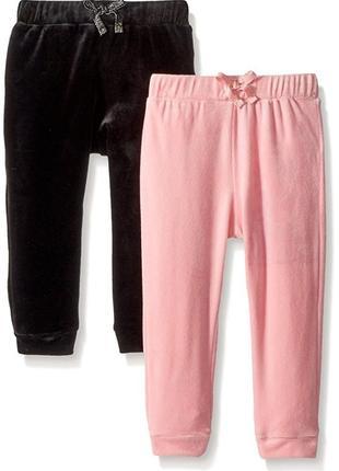 Велюровые бархатные штаны джоггеры children's place на девочку 2 года