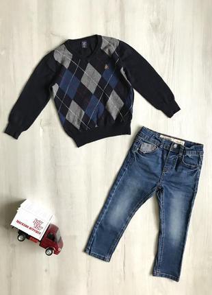 Набор на 3-4 года, свитер, кофта, джемпер, джинсы, штаны, gap, denim co