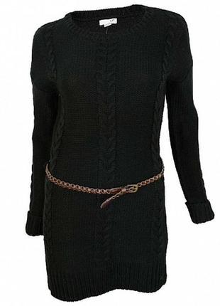 Вязаное  подростковое платье туника  французского бренда la halle, 14 лет