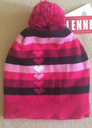 Зимняя шапка ленне lenne 18396а synne цвет 261 54р розовая малиновая