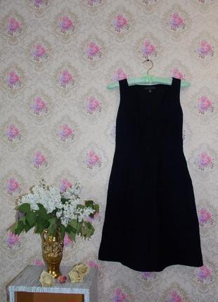 Маленькое фактурное чёрное платье от banana republic!