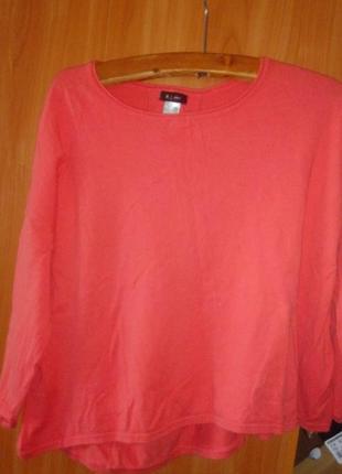 La redoute стильный кораловый свитер