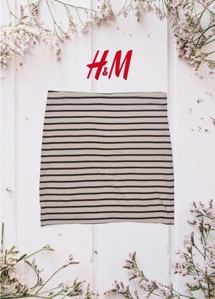 Мини юбка в полоску h&m