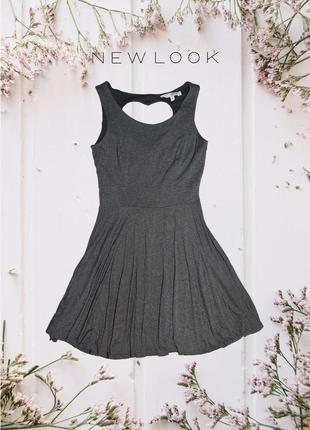 Платье с вырезом сердечка на спине new look
