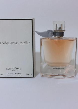 Тестер парфюмированная вода для женщин la vie est belle, 75 мл