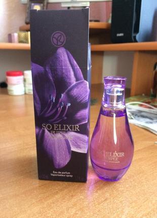 Парфюмированная вода от yves rocher so elixir purple