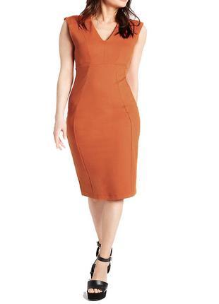 Стильное оранжевое миди  платье marks&spencer