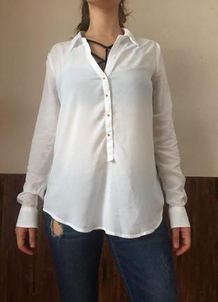 Белая рубашка amisu блуза вискоза