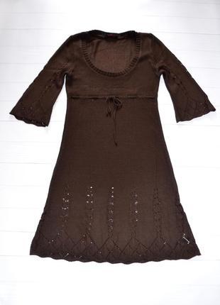 Вязаное платье miss selfridge, размер s