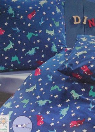 Отличный постельный комплект с принтом динозаврики, германия
