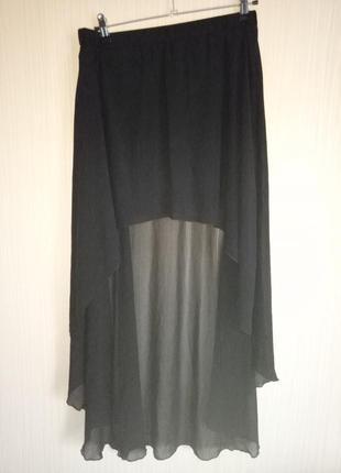 Стильная юбка двойной длины