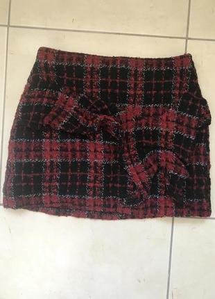 Тёплая юбка zara мини