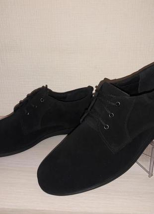 Подростковые туфли, натур.замш р.36-39