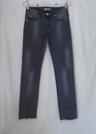 Джинсы скинни серые w27 l30-32 *acne jeans* hex filter