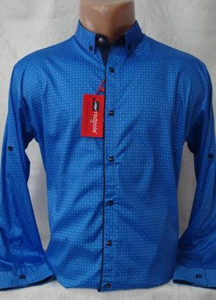 Мужская рубашка с длинным рукавом на кнопках redpolo, турция. разные цвета.