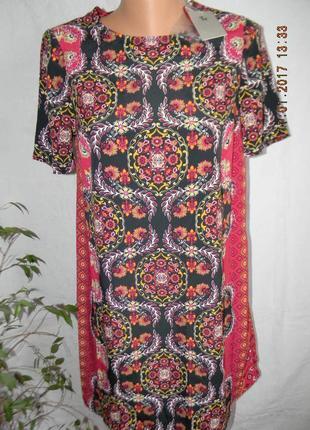 Распродажа!!!платье прямого кроя с принтом tu