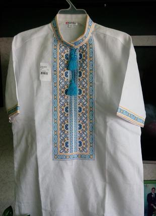 Шикарная  вышиванка машинная вышивка тм.  edelvika р.44-46