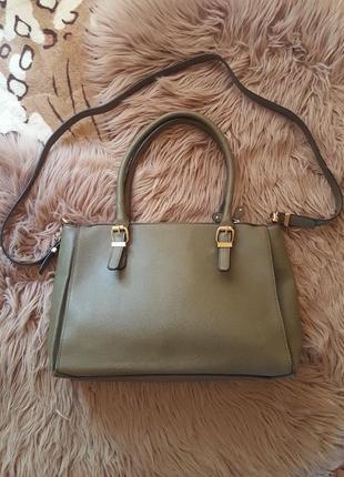 Женская сумка,эко-кожа,оливковая сумка,черная сумка,сумка accessorize