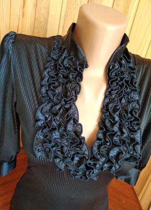 # блуза- боди  с отделкой жабо #распродажа#