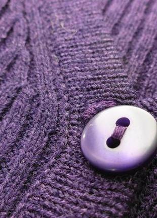 Весенний кардиган на пуговках фиолетовый.