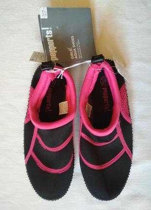 Аквашузы для девочки, обувь для пляжа, кораллов, речки, моря,
