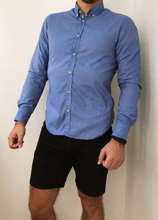 Мужская рубашка классическая zara man1 фото