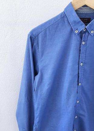 Мужская рубашка классическая zara man5 фото