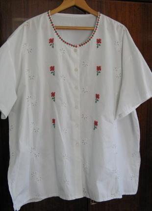 Сорочка с ручной вышивкой большого размера