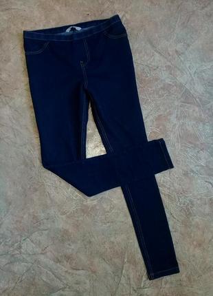 Лосины синие имитация джинсов джинсы скинни tu