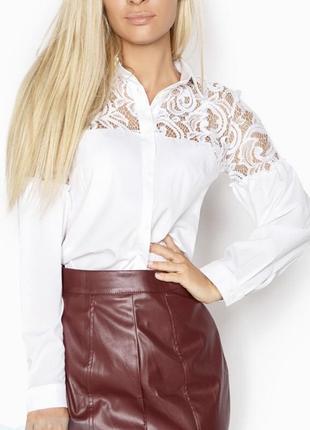 Белая нарядная блуза рубашка