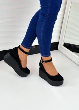 Туфли, босоножки на танкетке натуральная кожа, замша ассортимент цветов 36-40