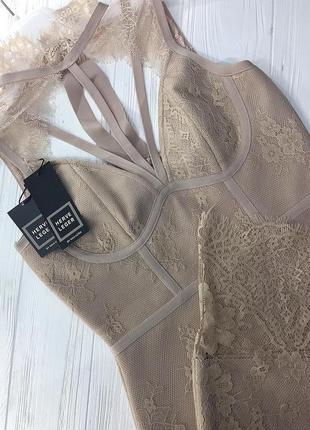 Сексуальное бандажное кружевное облегающее платье по фигуре футляр миди herve leger