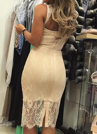 Сексуальное бандажное кружевное облегающее платье по фигуре футляр миди herve leger3