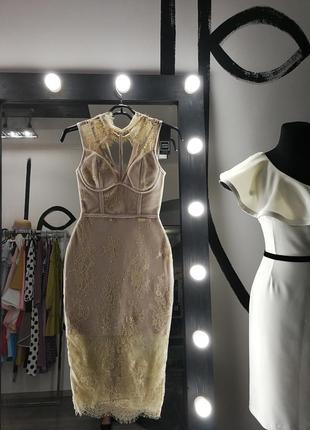 Сексуальное бандажное кружевное облегающее платье по фигуре футляр миди herve leger4