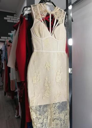 Сексуальное бандажное кружевное облегающее платье по фигуре футляр миди herve leger5