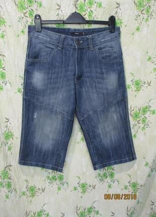 Стильные джинсовые шорты до колена 32w / 48 / м