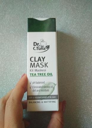 Глиняная маска с маслом чайного дерева