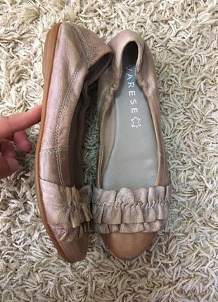 Туфли балетки varese кожаные