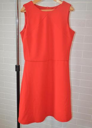 Красное миди платье трапеция инсити