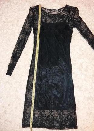 Платье oodji кружевное нарядное. размер s