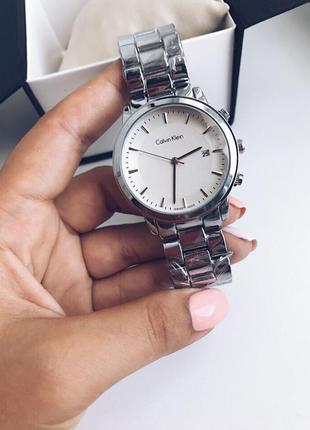 Часы серебро сталь ск