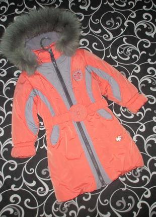 Зимнее пальто kiko, зимняя куртка кико, оригинал, рост 116 - 122 см