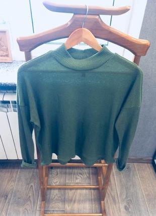 Гольф свитер кофтра в рубчик