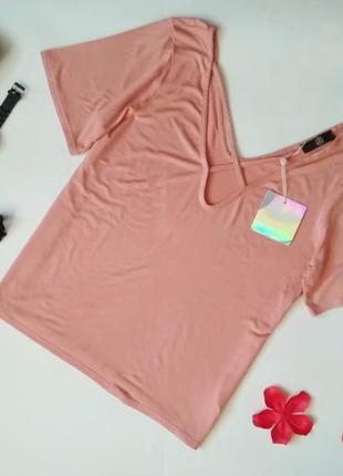 Стильная базовая пудровая футболка missguided
