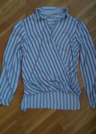 Очень стильная рубашка-блуза в полоску