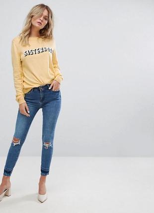Кофта джемпер свитшот свитер легкий new look с принтом